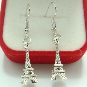 925 Silver Plated Hook - 1.8'' Vintage Eiffel Towe